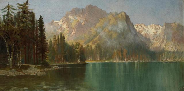 Edwin Deakin (American, 1838-1923) Sierra landscape 18 x 36in