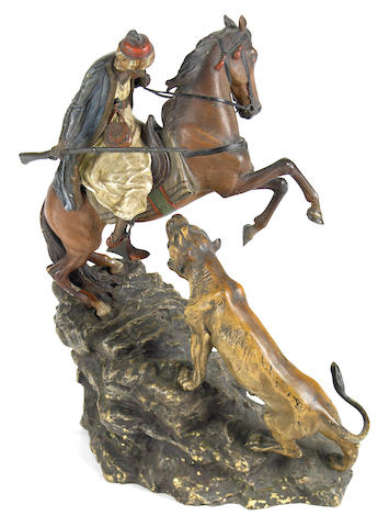 Arab Horseman and Lion