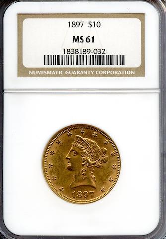 1897 $10 MS61 NGC