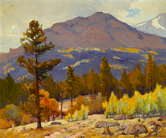 Ferdinand Kaufmann (American, 1864-1942) Gray Day, Meeker Mountain 30 x 36in