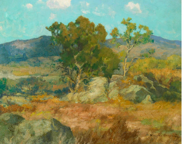Maurice Braun (American, 1877-1941) Summer comes to the Back Country 16 x 20in