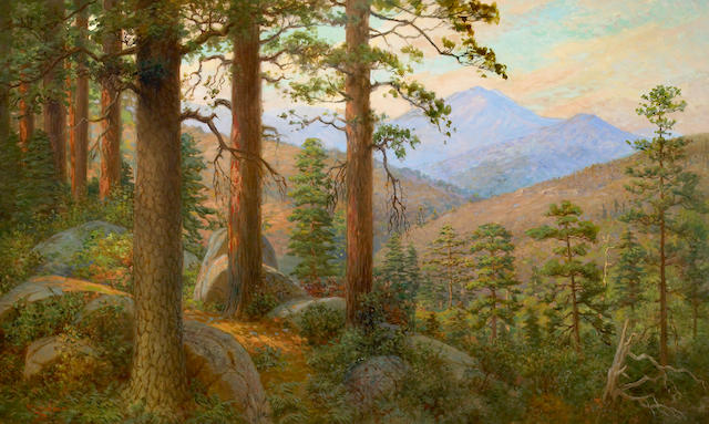 William Lees Judson (American, 1842-1928) High Sierras in the Summer 30 x 50in