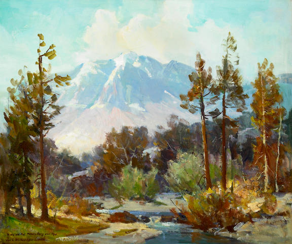 Jack Wilkinson Smith (American, 1873-1949) The Range East of the Tehachape near Mojave 20 x 24in