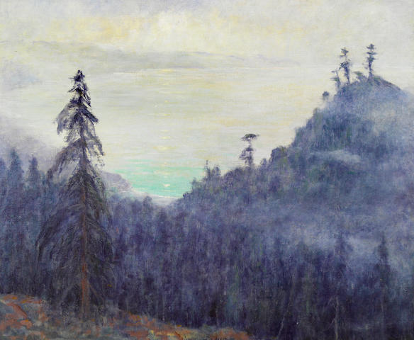 William Posey Silva (1859-1948) Morning Fog, Big Sur, California 25 x 30in
