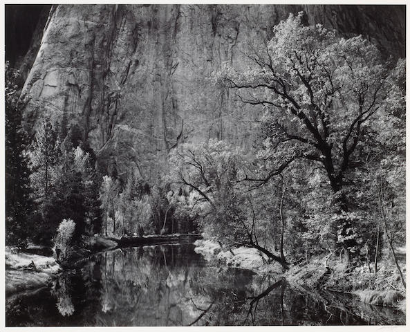 Ansel Adams (American, 1902-1984); River Cliffs, Autumn, Yosemite Valley, California;