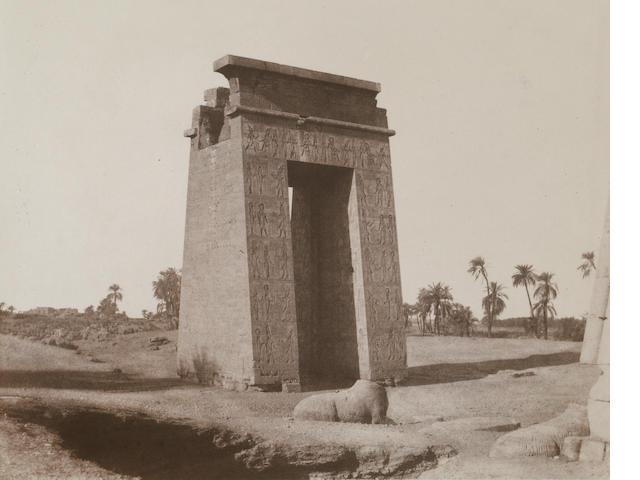 Félix Teynard (French, 1817-1892); Karnak-Thebes;