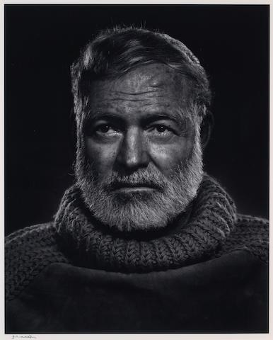 Yousuf Karsh (Canadian, 1908-2002); Ernest Hemmingway;