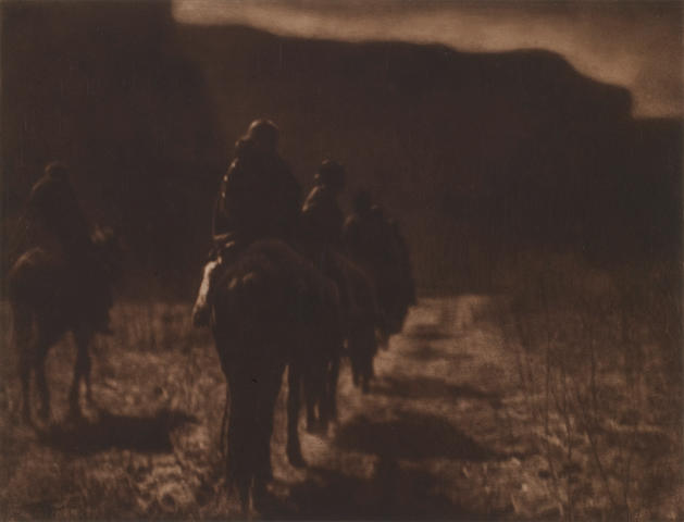 Edward S. Curtis (American, 1868-1952); The Vanishing Race - Navaho;