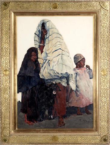 (n/a) Erich Wolfsfeld (German, 1884-1956) A Maghrebi Family