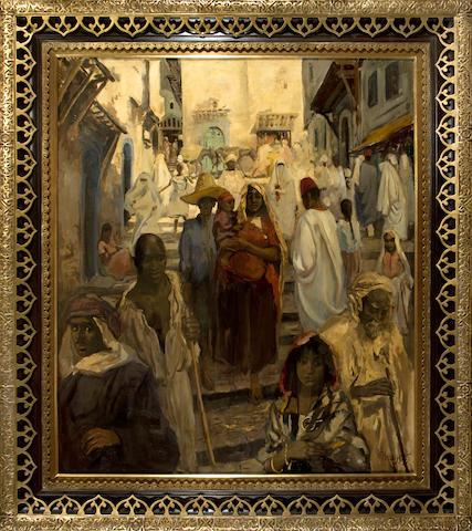 (n/a) Gérardus Hendrik Grauss (Dutch, 1882-1929) Algerian Kasbah
