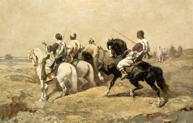 Charles Craig (American, 1846-1931) Men on horseback