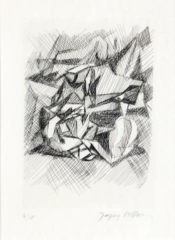 Jacques Villon (2) black and white etchings;