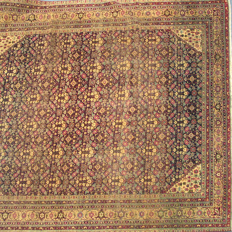 An Agra carpet India, size approximately 9ft. x 11ft.