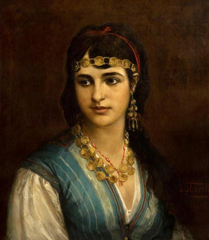 Julius Josephus Gaspard Starck (Belgian, 1814-1884) An oriental beauty