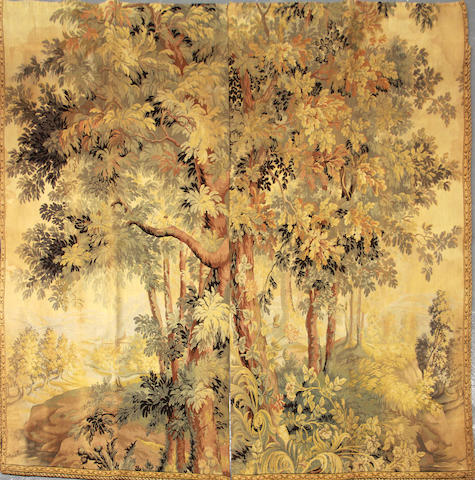 A Belgian machine made verdure tapestry