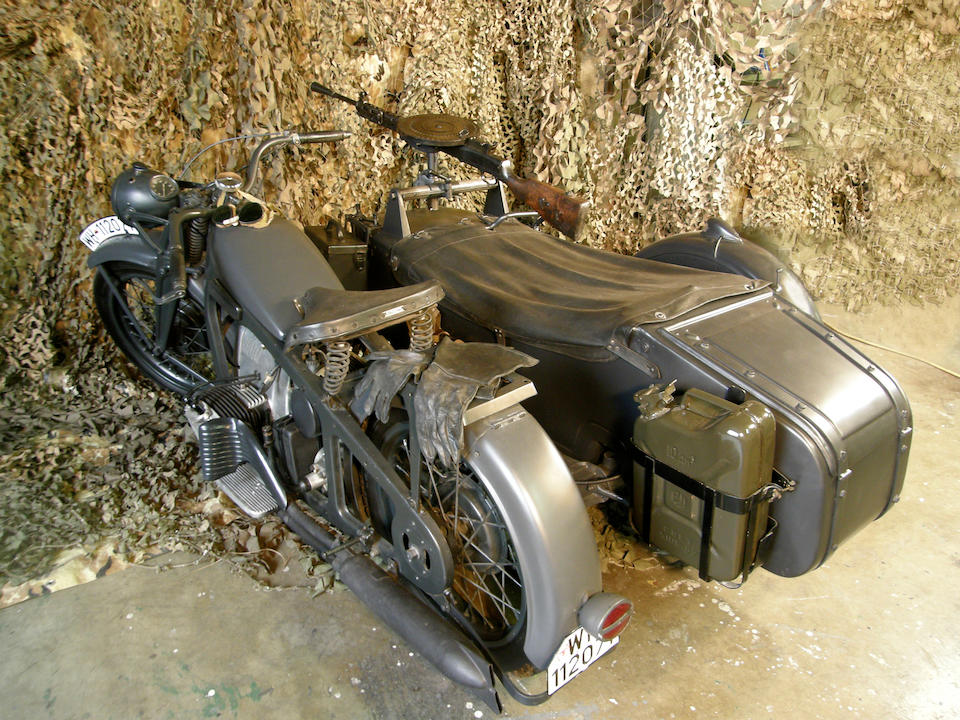 1938 Zündapp 797cc K800 Military Bike with Sidecar Frame no. 195833 Engine no. 63788