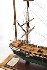 A model of the Greek merchant brig Ares  early 20th century 65-1/4 x 26-1/4 x 54 in. (165.7 x 66.7 x 137.2 cm.) cased.