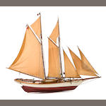 "A folk art ship model ""Glouchester Fisherman"""