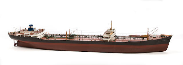 A presentation model of the S.S. Trinity Navigator 87-1/2 x 11 x 16-1/2 in. (222.3 x 27.9 x 41.9 cm.) model.