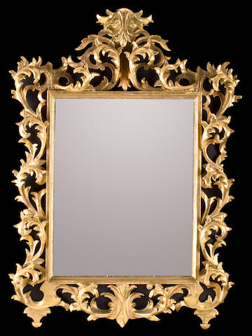 A Florentine Baroque style giltwood mirror