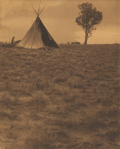 Edward S. Curtis (American, 1868-1952); Lone Tree Lodge, Jicarilla; In the Cañon; (2)