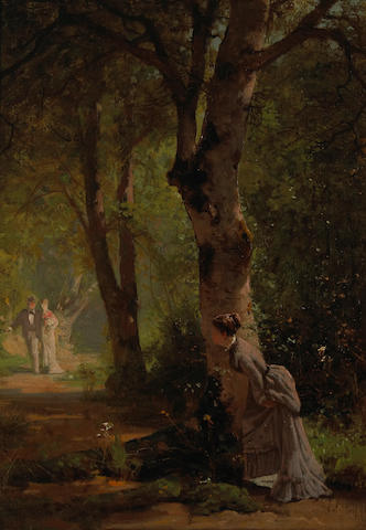 Thomas Hill (American, 1829-1908) The onlooker; In the lane (a pair) each 14 x 10in