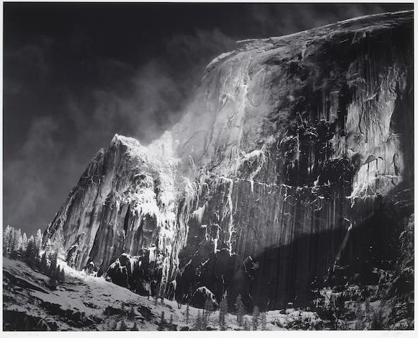 Ansel Adams (American, 1902-1984); Half Dome Blowing Snow, Yosemite National Park;