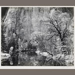 Ansel Adams (American, 1902-1984); Merced River Cliffs;