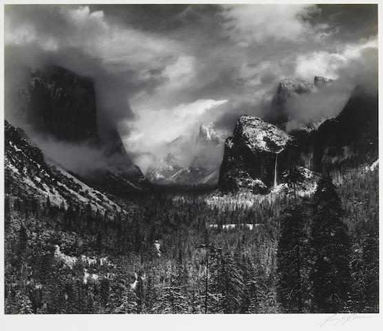 Ansel Adams (American, 1902-1984); Clearing Winter Storm, Yosemite Valley;