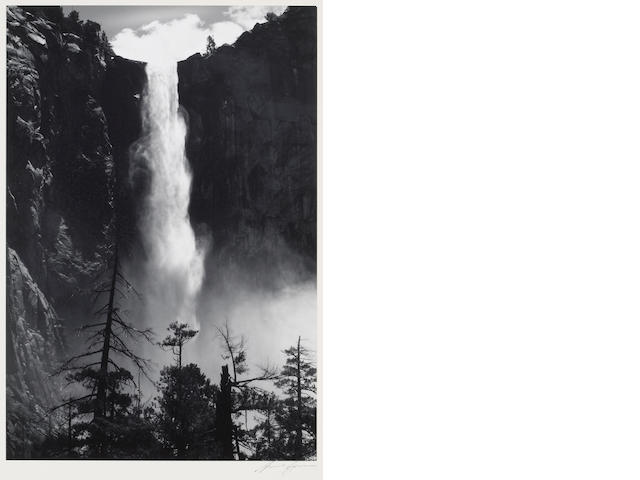 Ansel Adams (American, 1902-1984); Bridal Veil Falls;