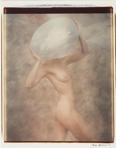 Joyce Tenneson (American, born 1945); Cloud Woman; Angel with Lit Wings, from Transformations; (2)