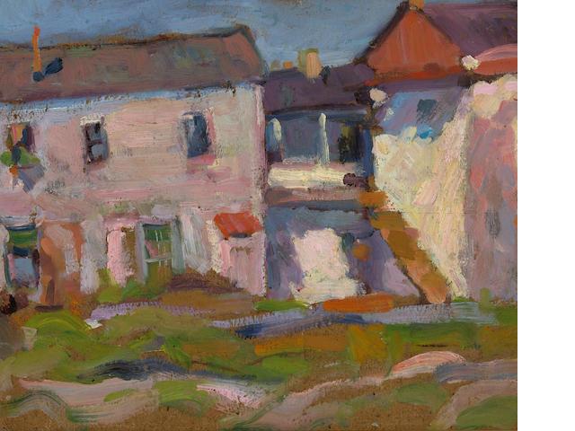 August Gay (American, 1890-1948) Untitled (Adobe) 11 1/4 x 13 3/4in