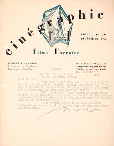 L'HERBIER, MARCEL. 1888-1979.