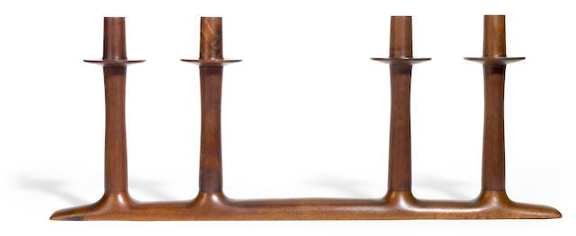 A Sam Maloof Walnut candelabrum