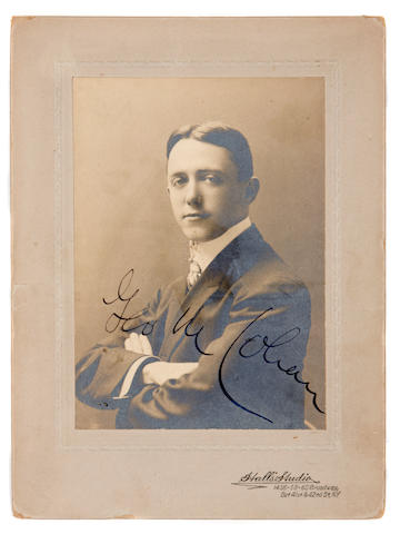 George M. Cohan manuscript and signed photograph