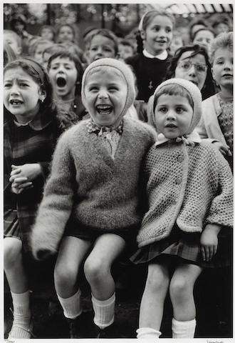 Alfred Eisenstaedt (American, 1898-1995); Children at a Puppet Theatre, Paris, III ;