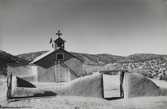 Laura Gilpin (American, 1891-1979); Church at Cundiyo, New Mexico;