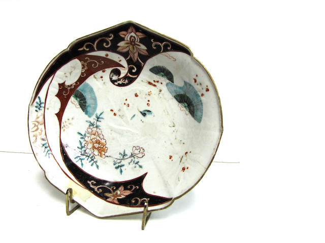 An unusual Japanese Imari porcelain dish 18th century