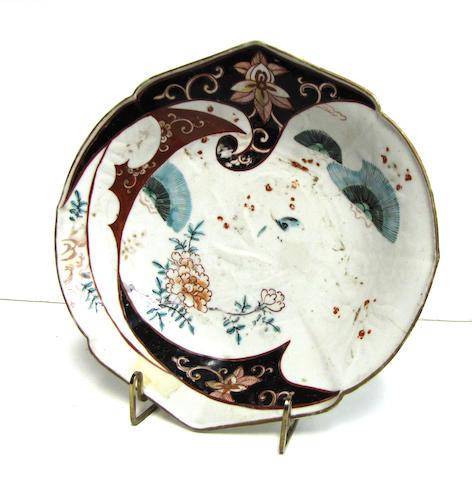 An unusual Japanese Imari porcelain dish 18th century