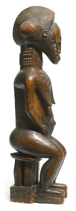 TO BE RECEIVED: Baule Seated Female Figure