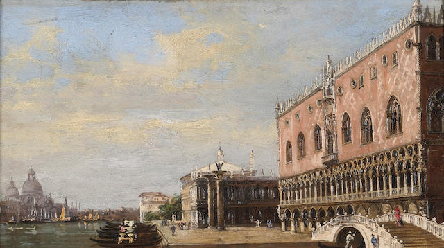 Antonietta Brandeis (Czechoslovakian, 1849-1910) The Doge's Palace, Venice 4 3/4 x 8 1/2in (12 x 21.6cm)