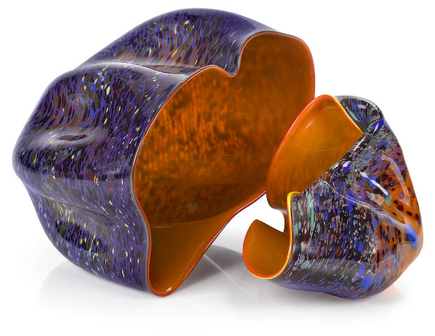 Dale Chihuly (American, born 1941) Macchia couplet, 1982