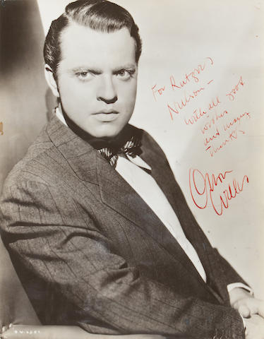 Welles, Orson.  SP