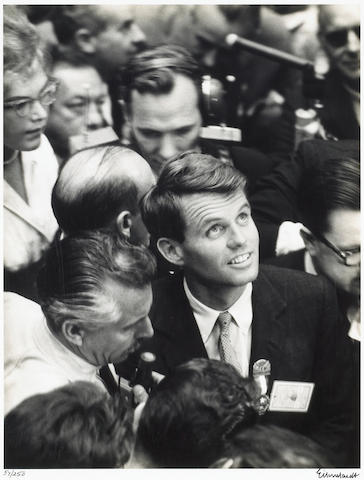 Alfred Eisenstaedt (American, 1898-1995); Bobby Kennedy, Democratic National Convention, Los Angeles;