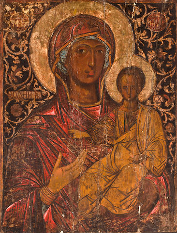 Adriatic School, 14th Century The Madonna and Child 36 x 28in (91.4 x 71.0cm) unframed