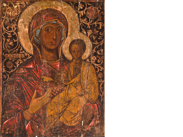 Adriatic School, 14th century, Madonna and Child unframed
