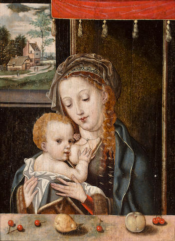 After Joos van Cleve, 16th Century The Madonna and Child 14 1/8 x 10 1/2in (35.8 x 27.7cm)