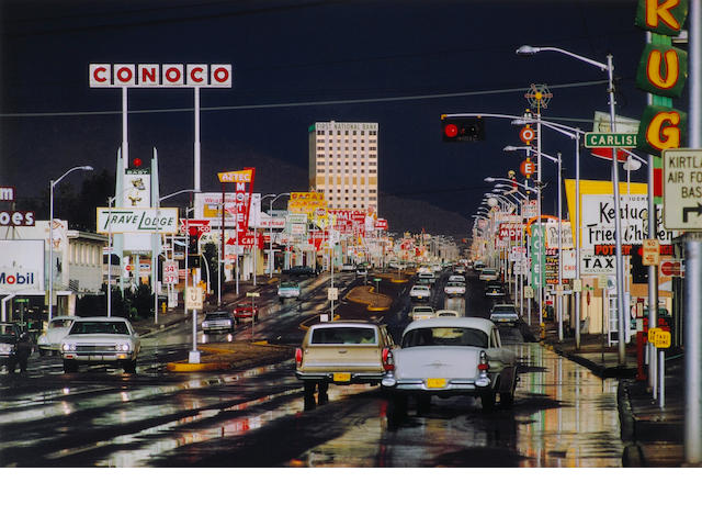 Ernst Haas (Austrian/American, 1921-1986); Route 66, Albuquerque, New Mexico, USA, from In America series;