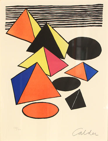 Attributed to Alexander Calder (American, 1898-1976); Pyramids;