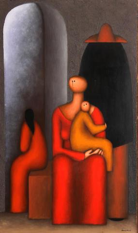 Jesus Mariano Leuus (Mexican, born 1948) La familia, 1974 47 1/4 x 31 1/2in